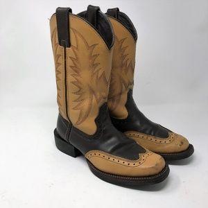 Acme Unusual Western Cowboy Boots sz 7 1/2 M